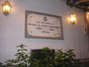 Targa 100 anni pizza Margherita - Brandi